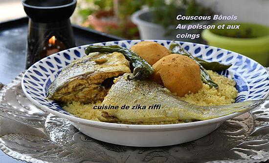 recette COUSCOUS AU POISSON ET AUX COINGS TYPIQUE BÔNOIS