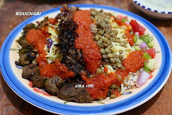 recette KOUCHARI-Plat populaire égyptien d'Alexandrie