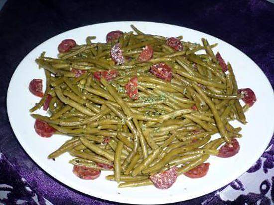 recette Haricots verts au chorizo