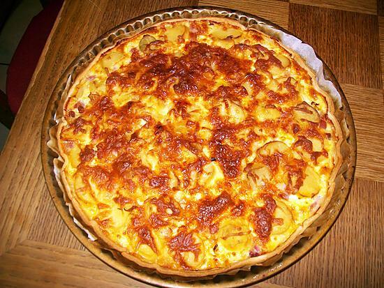 recette tarte, quiche aux pommes de terre.