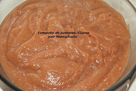 recette Compote aux pommes/figues