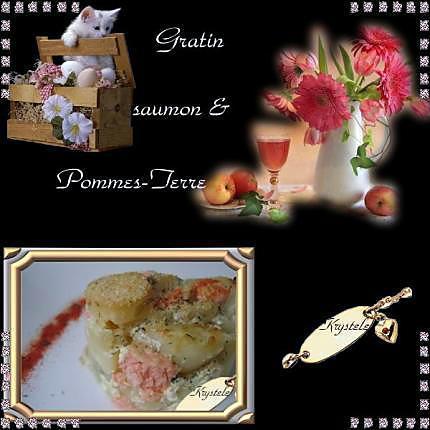 recette gratin pommes de terre & saumon