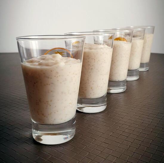 recette riz au lait végétal et graines d'amarante - vegan