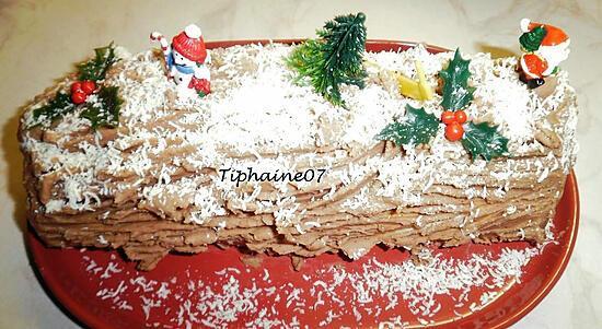 recette Bûche de Noël 2020 aux marrons (un peu light en sucre)