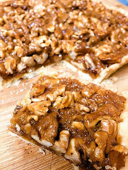 recette Tarte aux noix caramel beurre salé