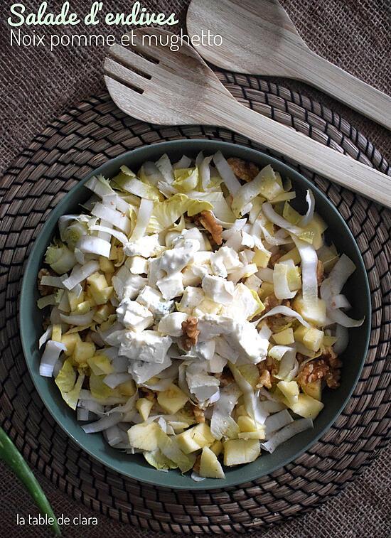 recette Salade d'endives pommes noix et mughetto