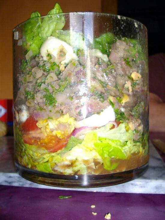 recette salade aux fois de volailles