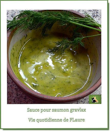 recette Sauce à associer avec le saumon gravlax