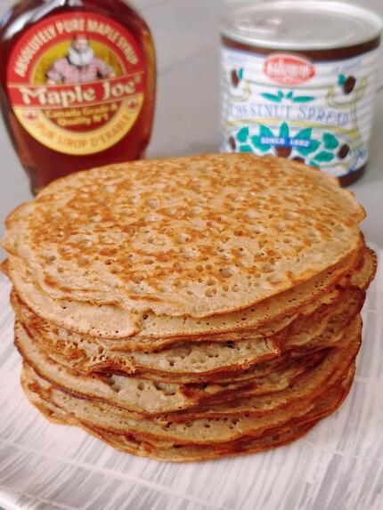 recette délicieuse crêpe vegan, sans oeuf, sans sucre ajouté, sans lactose ... et sans gluten
