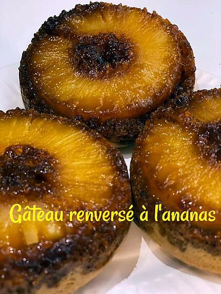 recette GÂTEAU RENVERSE A L'ANANAS