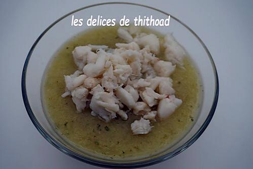 recette velouté de celeri au crabe
