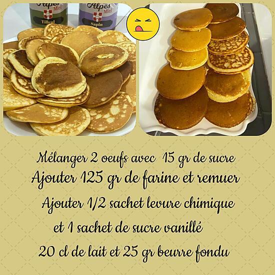 recette Minis pancakes