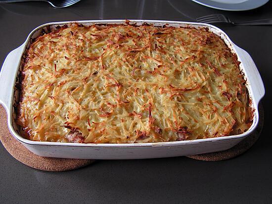 recette Gâteau aux pommes de terre râpées