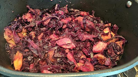 recette Chou rouge à l'alsacienne aux marrons et pommes