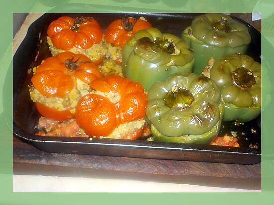 recette Tomates et poivrons farcis a la marocaine