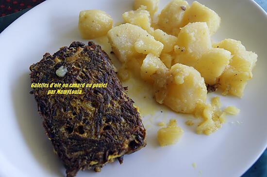 recette Galettes d'oie ou canard ou poulet