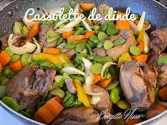 recette CASSOLETTE DE DINDE