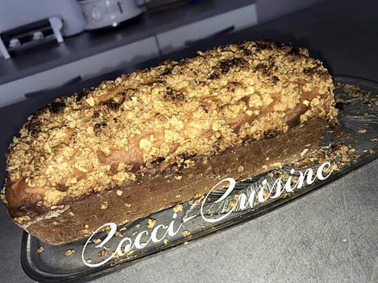 recette Cake aux pommes râpées et sa garniture croustillante