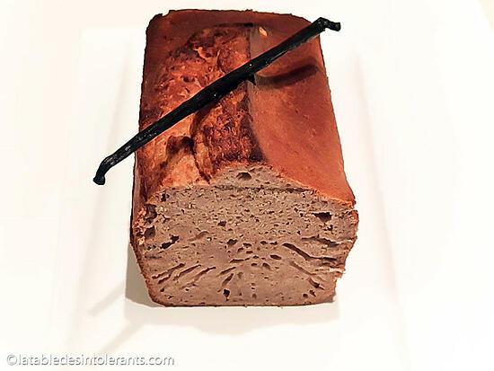recette CAKE À LA VANILLE sans gluten, sans lait, avec ou sans sucre, sans levure, sans œuf