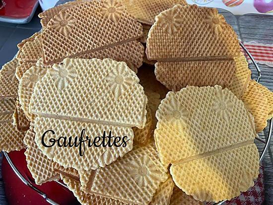 recette GAUFRETTES AU THERMOMIX