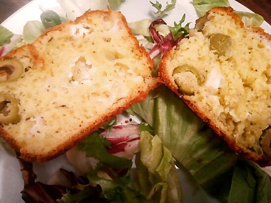 recette Cake salé chèvre olives