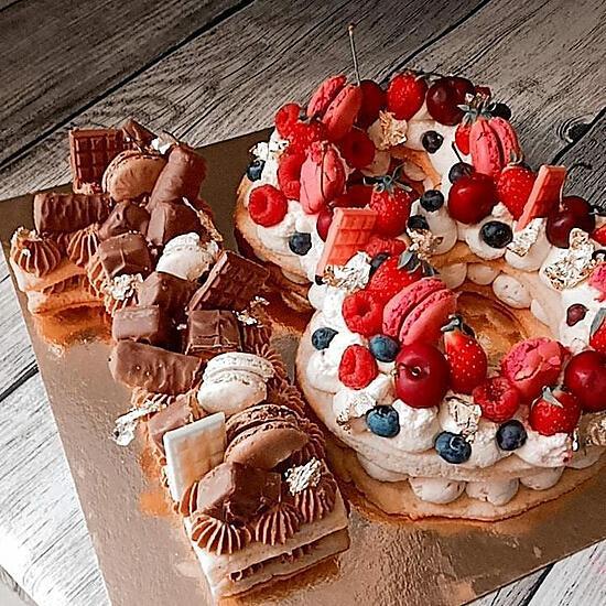 recette Duo de Number cake 18 ans chocolat et fruits rouges