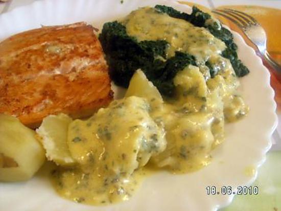 recette Epinards sauce béarnaise