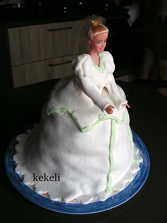recette La petite sirène en robe de mariée