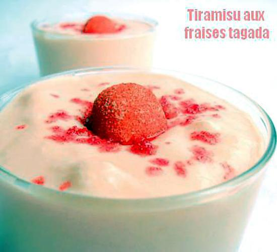 recette Tiramisu aux Fraises Tagada ®