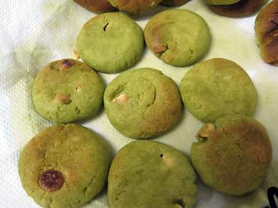 recette Biscuit au thé vert et chocolat blanc sant oeuf