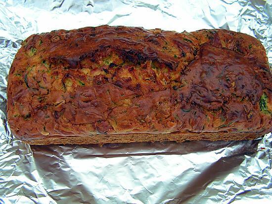 recette Cake courgettes et lardon fumé