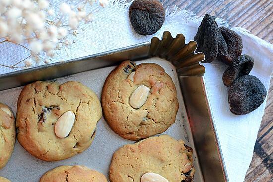 recette Cookies abricots amandes fleur d'oranger