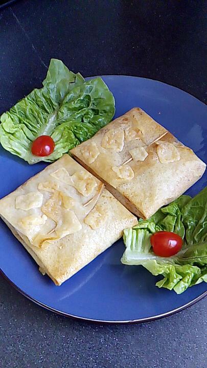 recette croustillant au fromage au poivre et bacon tomaates