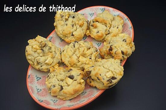 recette cookies pomme et chocolat
