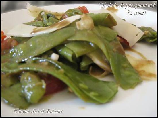Recette de salade de pois gourmands au comt - Cuisiner des pois gourmands ...
