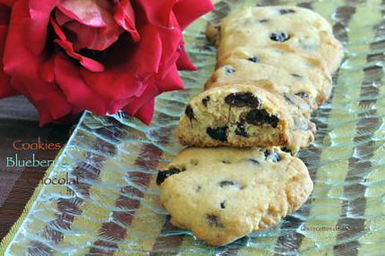 recette cookies aux blueberries et au chocolat au lait