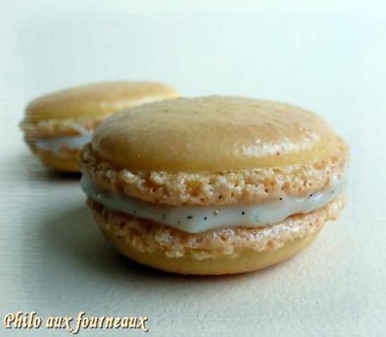 recette Macarons ganache à la vanille