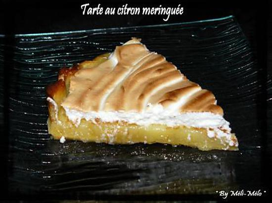 Recette de ma premi re tarte au citron meringu e - Recette tarte citron meringuee ...