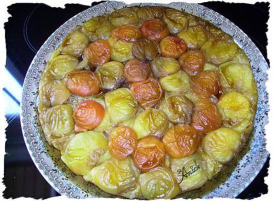 recette tatin d'abricots à la réglisse