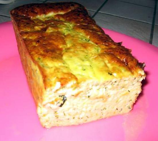 recette cake chèvre courgette très moelleux