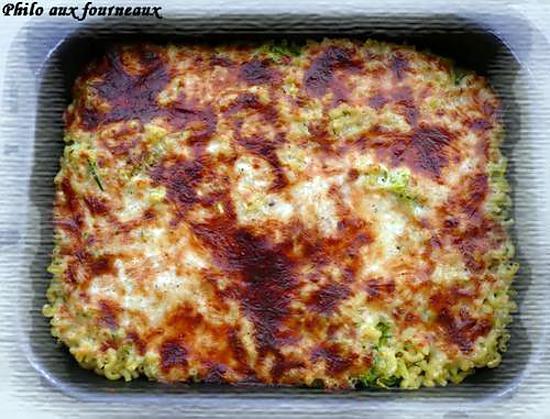 recette Coquillettes & courgettes gratinées au Comté
