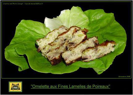 recette Omelette Gratinée aux Poireaux