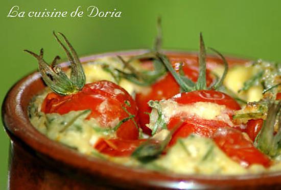 recette Clafoutis de tomates cerises et à la ciboulette
