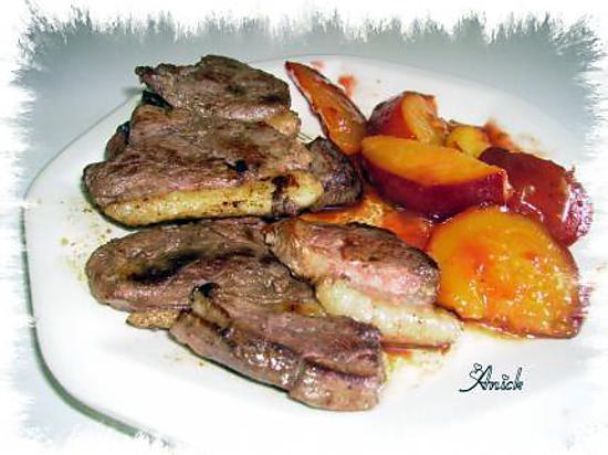 recette de magrets de canard grill s aux nectarines et sirop d 39 rable. Black Bedroom Furniture Sets. Home Design Ideas