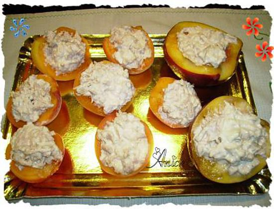 recette d 39 abricots et nectarines au thon tapas d ner ap ritif. Black Bedroom Furniture Sets. Home Design Ideas