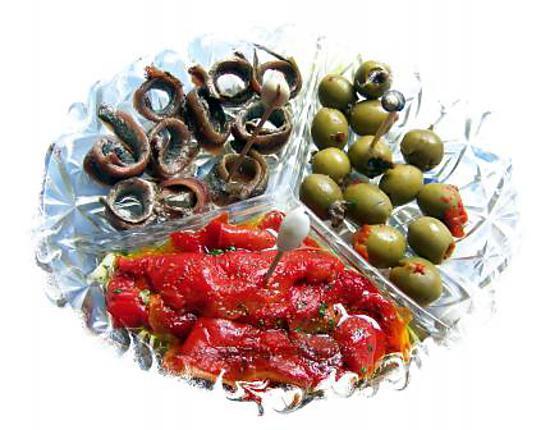recette olives farçies -anchois-poivrons ( tapas -dîner apéritif )