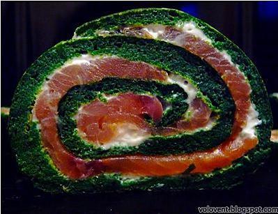 recette Roulé aux épinards et saumon fumé
