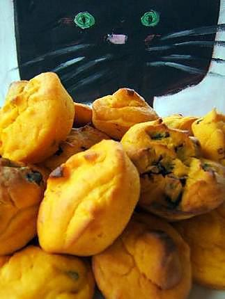 recette Muffins au potimarron et aux pruneaux