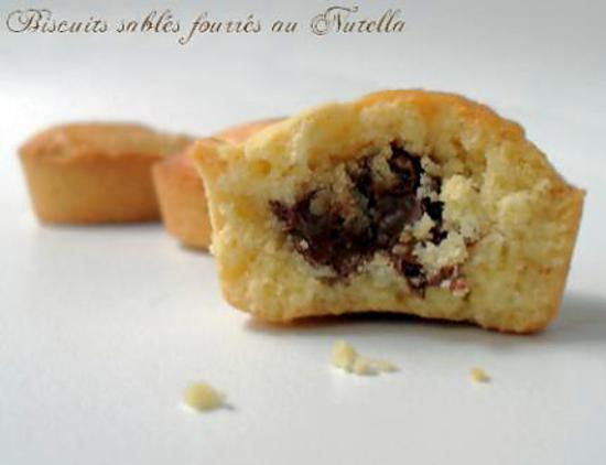 recette Biscuits Sablés Fourrés au Nutella