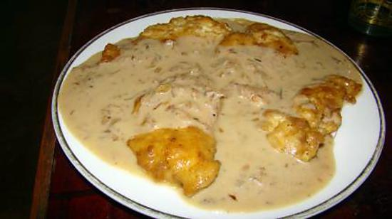 recette Blancs de poulet à l'estragon